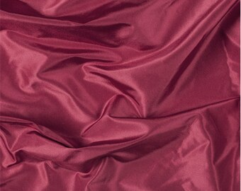 Red Silk Taffeta, Fabric By The Yard