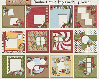 Home For Christmas - Digital Scrapbooking Quick Pages