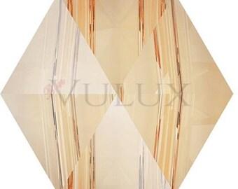 Swarovski 5060 Hexagon Spike Bead - Golden Shadow