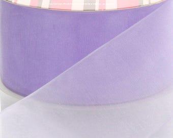 Light Orchid Sheer Organza Ribbon - Choose Width / Length
