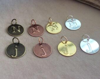 Custom Initial Charm - Custom Alphabet Charm - Custom Letter Charm - Personalized Initial Charm - Personalized Letter Charm - Initial Charm