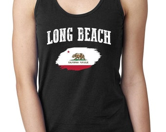 Long Beach California Women Tops Next Level Racerback Tank Top
