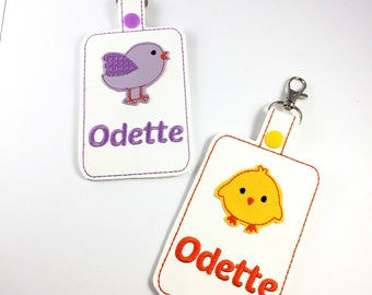 Personalized Tag - bird Tag - chick Tag - dinosaur Tag - owl tag -Baby Shower ideas - Baby Shower Gifts - Luggage Tags custom diaper bag tag
