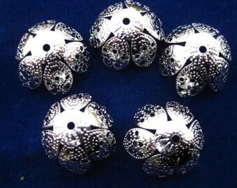 iron metal filigree beads bead PRETTY PETALS torch fire torch firing