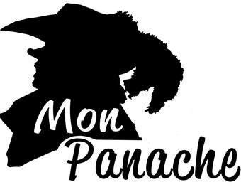 Car Decal - Cyrano de Bergerac Mon Panache French Laptop Vinyl Sticker