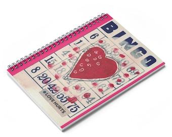 Writing Journal Spiral Notebook Journal Lined Paper Notebook For School Blank Notebook Spiral Collage Art Heart Love Hurts