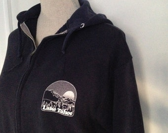 Vintage Lake Tahoe 80s Zip up Hoodie