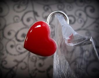 Red Heart Lock,  heart  lock, working lock, lock and key  Love Lock