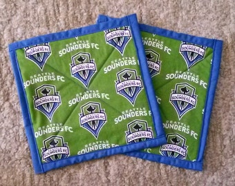 Seattle Sounders Pot Holders / Set of 2