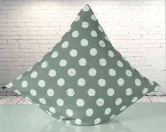 Steingraue Cushion cover with white dots, 40 x 40 cm