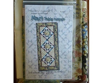 Mari~Table Runner Kit,22In X50Inpattern And Fabric~Top And Binding,Asian, By Rjr