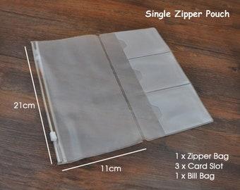 Standard Size Credit Card Holder Insert for Traveler's Notebook PVC Card Holder Envelope - Midori Accessories
