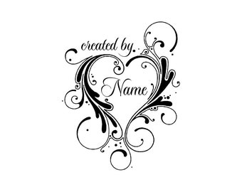 Personalized Custom Made Name Unmounted Rubber Stamps C19