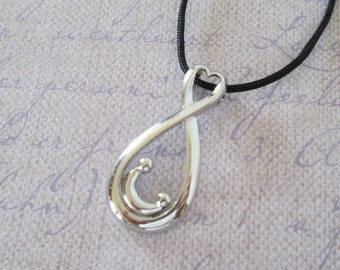 Mother and Child Infinity Pendant Necklace