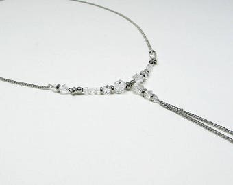 Long necklace - Swarovski Crystal - JET - SET