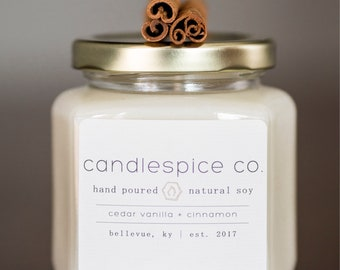 8 oz all natural soy candle