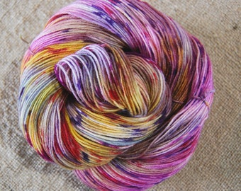 "Dyed to Order**Wonder Sock yarn - ""Tequila Sunrise"" - superwash Blueface wool and nylon 465 yards 3.5 ounces- shipping on My 25,2018"
