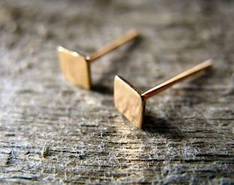 Square Stud Earrings 14k Gold Fill