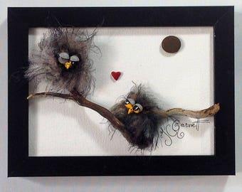 Pebble and mixed medium art- Excusive artwork - 447