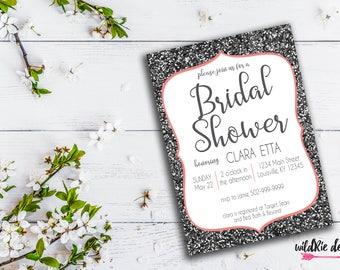 Sparkle Bridal Shower Invitation