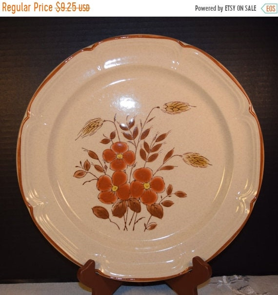 Delayed Shipping Country Cousins Monique Stoneware Chop Plate Vintage SY 7847 Japan Stoneware Platter Dinner Plate International China Repla