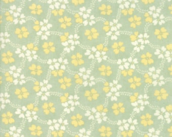 Ella and Ollie - Daisy Rings in Pond: sku 20302-14 cotton quilting fabric by Fig Tree and Co. for Moda Fabrics
