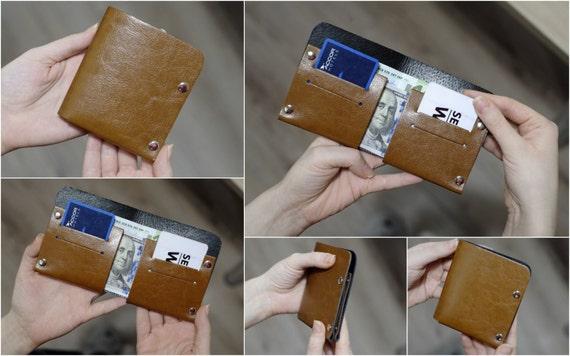 Bifold Wallet Mens Wallet, Minimalist Wallet, Womens Wallet, Leather Wallet