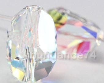 2 pcs Swarovski Elements - Swarovski Crystal 5650 16mm CUBIST - CLEAR AB