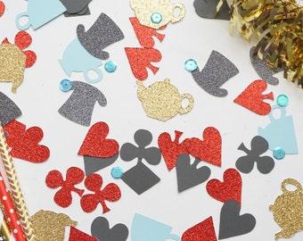 Alice in Wonderland Confetti,  Alice in Wonderland Party, Birthday Party Decor, Birthday Party Confetti, Alice in Wonderland, Confetti
