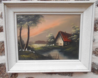 Pair of Vintage French oil painting on canvas, Framed..BOTH SIGNED
