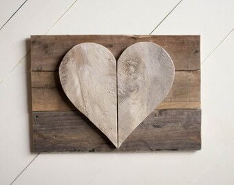 Heart sign, reclaimed wood sign, pallet sign