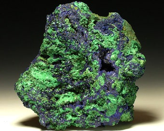 Clearance!  Azurite Malachite Giant Mineral Specimen 2.3lbs - Copper Ore Top Shelf Display - Free US Shipping!