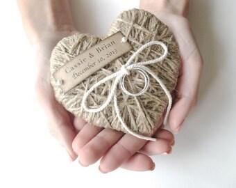 Ring Bearer Pillow - reuse as Christmas ornament -wedding ring pillow, Wedding Ring Bearer pillow, Wedding Party, Wedding Ceremony-ORIGINAL