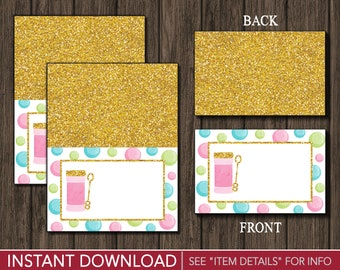 Bubble Birthday Tent Cards - Bubble Buffet Cards - Food Labels - Place Cards - Printable Digital File - INSTANT DOWNLOAD