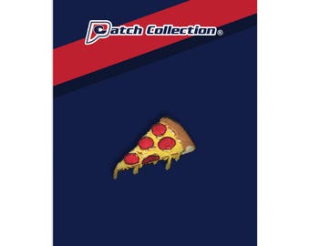 Slice of Pepperoni Cheese Pizza Emoji Food Meme Iron On Sew On Applique Embroidered Patch