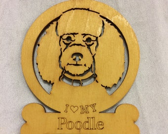 Poodle Dog Ornament