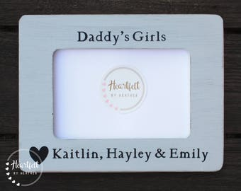 Custom Daddys Girls Picture Frame 4x6- Personalized Gift for Dad- Fathers Day Gift from Daughter- Best Selling Items Dad Gifts from Daughter
