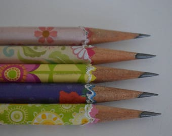 Hand wrapped pencils/ Graphite pencil/ HB 2/ office supplies/ Gift set