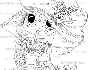 INSTANT DOWNLOAD Digital Digi Stamps Big Eye Big Head Dolls Bestie New Bestie Img538 My Besties By Sherri Baldy