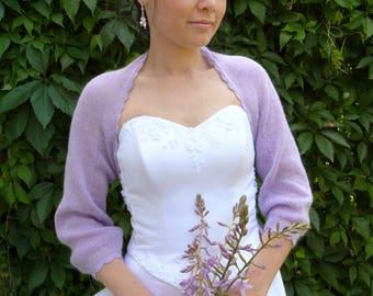 Lavender Delicate  Bridal Bolero Shrug,Wedding Bolero ,Lavender Bolero Shrug