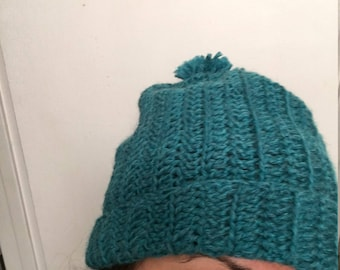Teal hat for Rhea