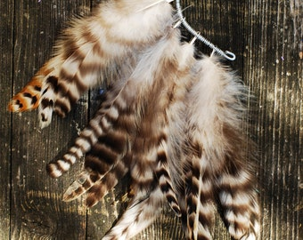 Feather Ear Cuff - Zebra