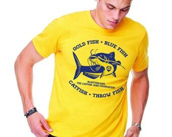 Gold Fish Blue Fish Catfish Throw Fish // #catfishjake Catfish Jake Foundation Shirt // Hockey Catfish Thrower Shirt