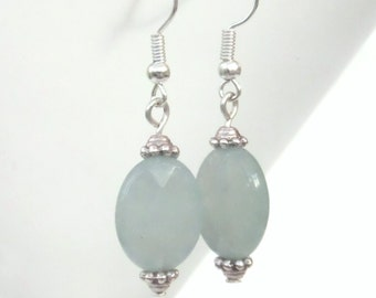 Aquamarine earrings, handmade gemstone earrings, best friend gift, aquamarine jewellery, March birthstone earrings, unusual earrings