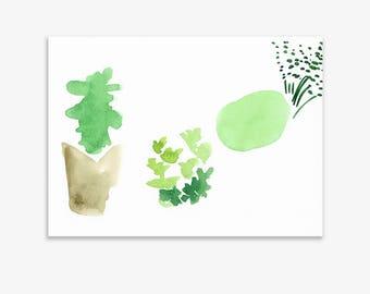 Unrecognisable Parts Of Our Garden 11, print on fine art paper