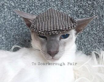 Ivy Cap pour chats - chapeau plat - conduite Chapeau - Casquette Gavroche Newsie, Gato Chapeau Golf cap, casquette Jeff, coupe-fromage
