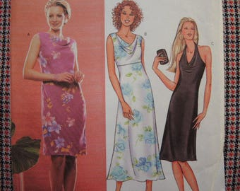 2000s sewing pattern Butterick 3445 misses semi fitted A line dress UNCUT size 18-20-22