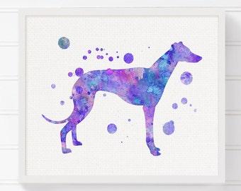 Watercolor Greyhound - Greyhound Art - Greyhound Print - Greyhound Painting - Watercolor Dog - Dog Wall Art, Dog Lover Gift, Dog Art Print