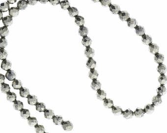 Pyrite beads Silver Beads 6mm Pyrite Strand 16 stra 09308