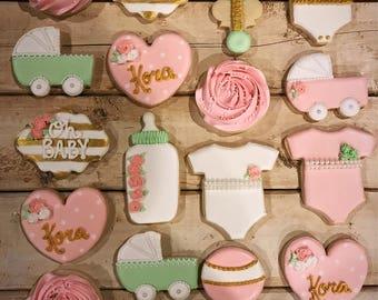Baby Shower Sugar Cookies (18 cookies)